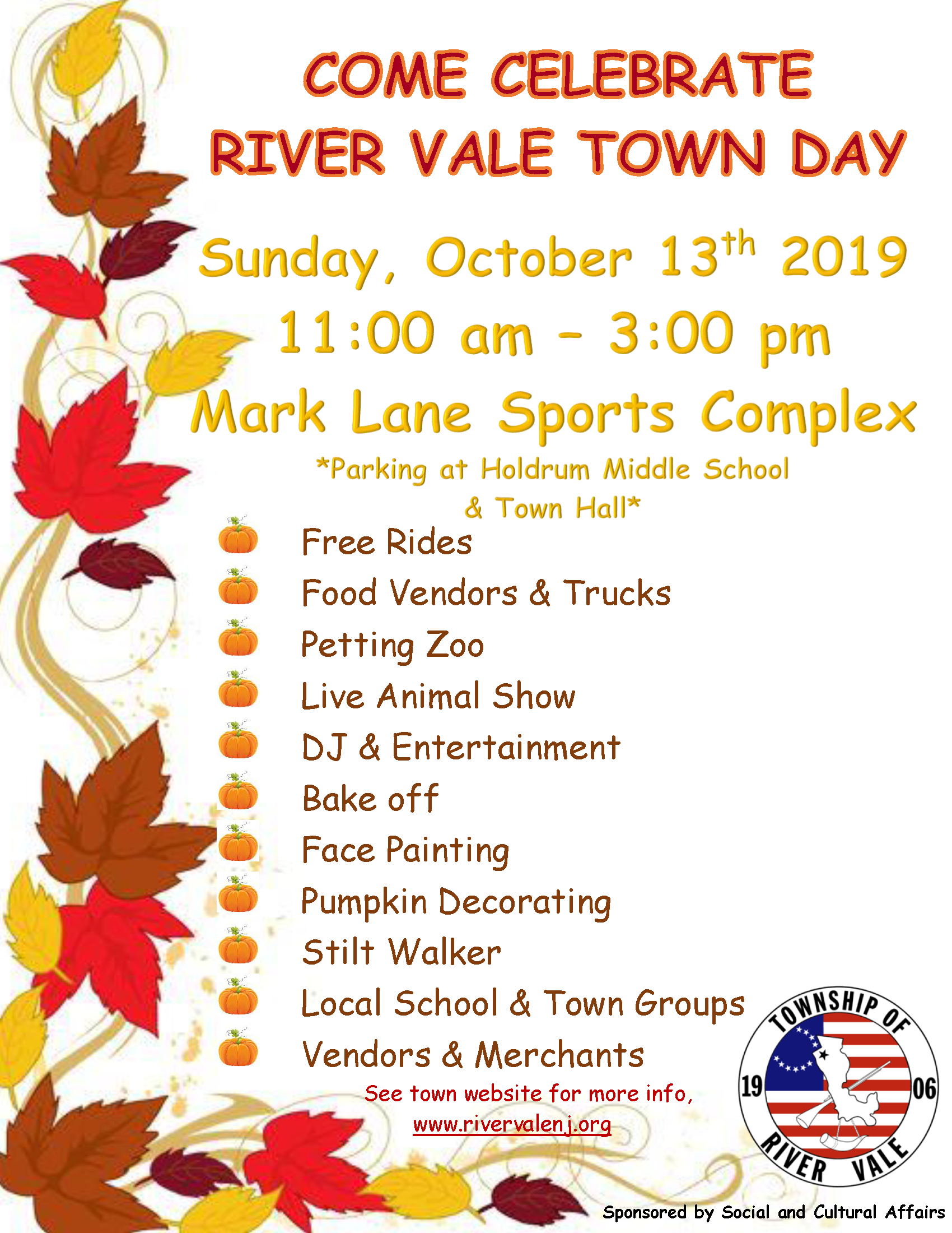 River Vale Day Flyer 2019 PNG