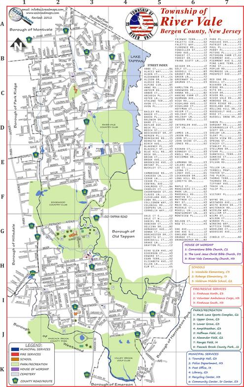 River Vale map of the town image (PDF)