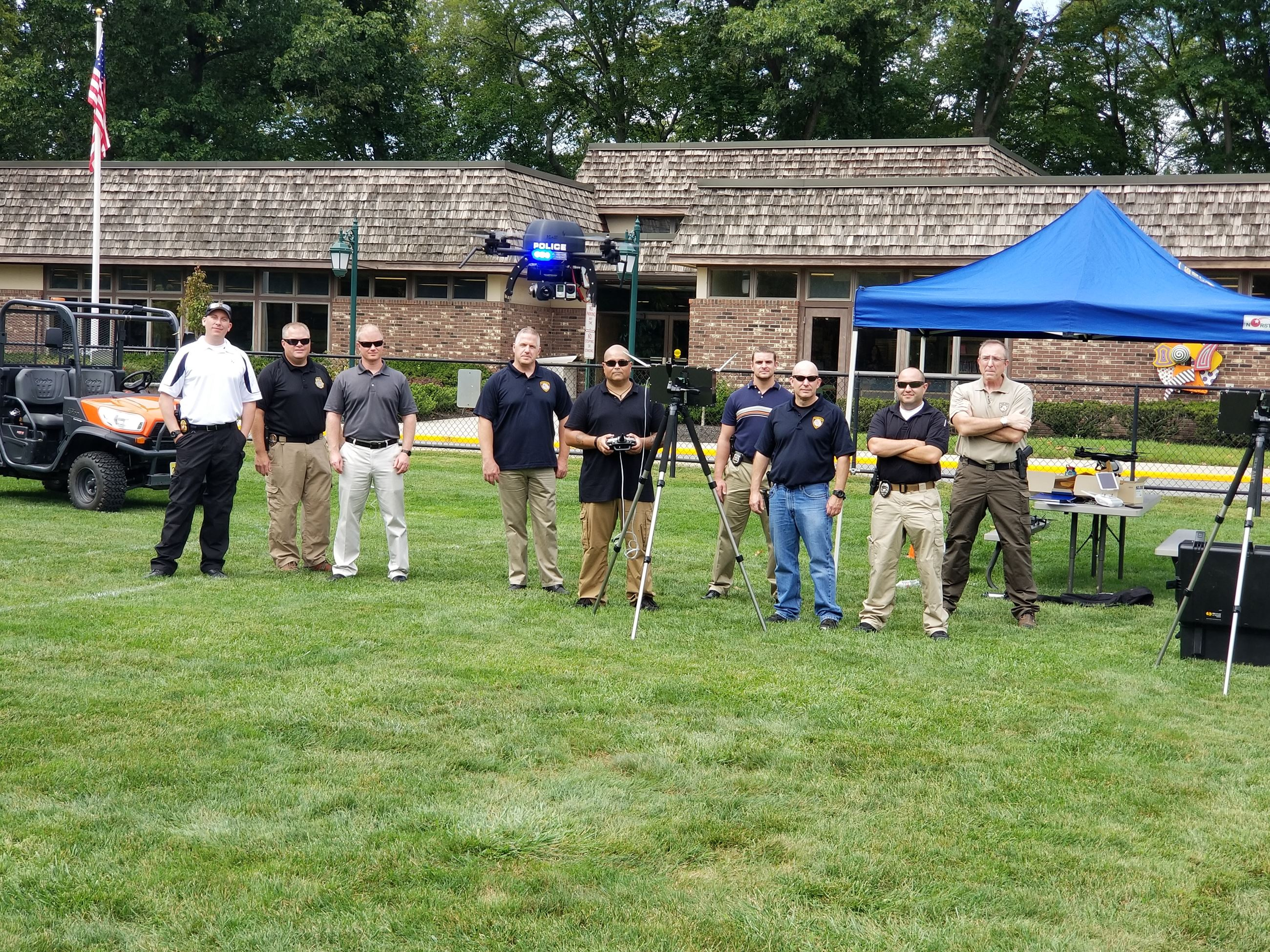 The River Vale Police Department hosted UAV training for members of its newly established UAS progra