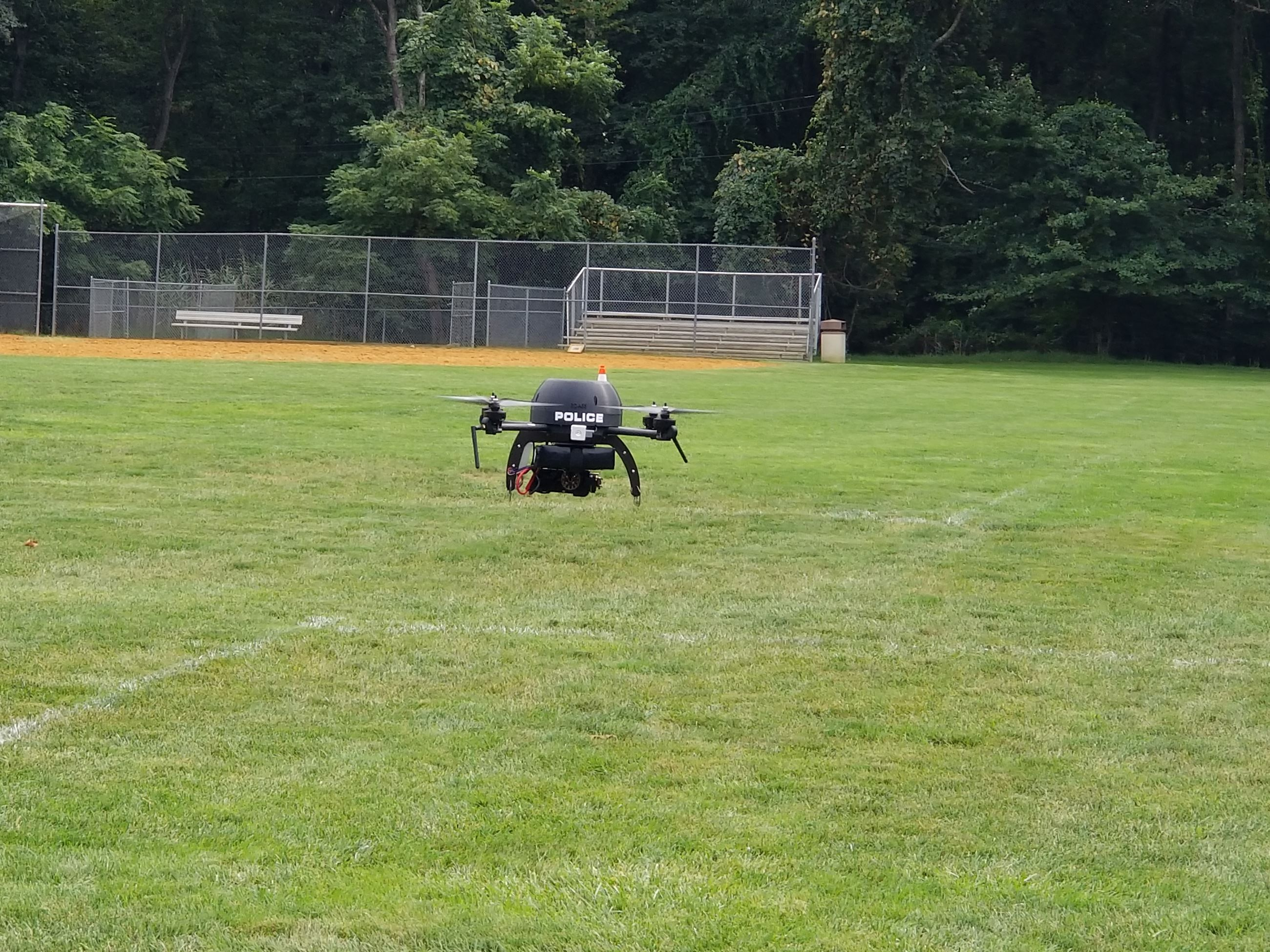 "River Vale Police Department's ""Angel 1"" in flight."