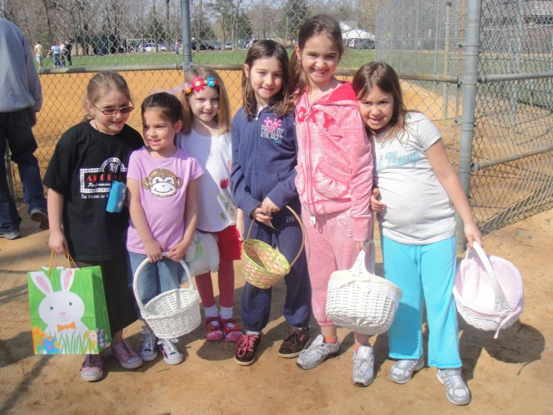 Young children having fun at the Easter event 5