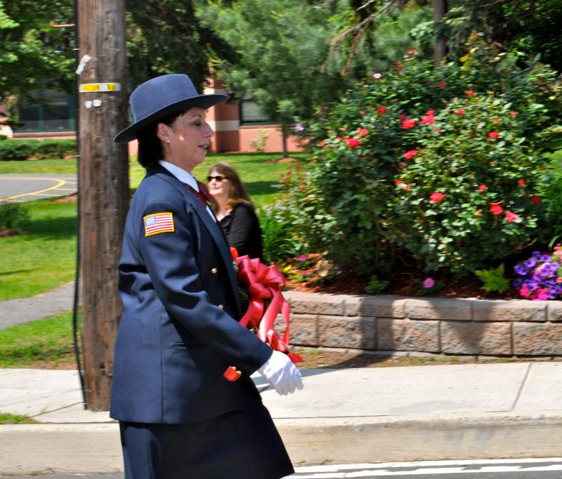 A woman in service uniform