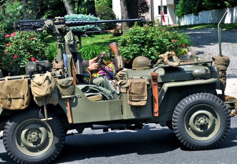 An old army jeep