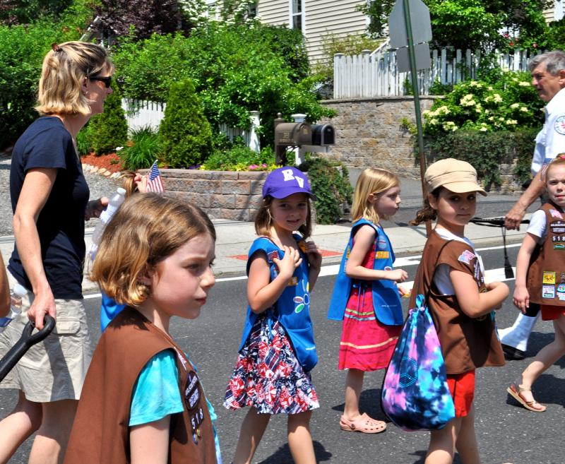 Girl scouts in a parade
