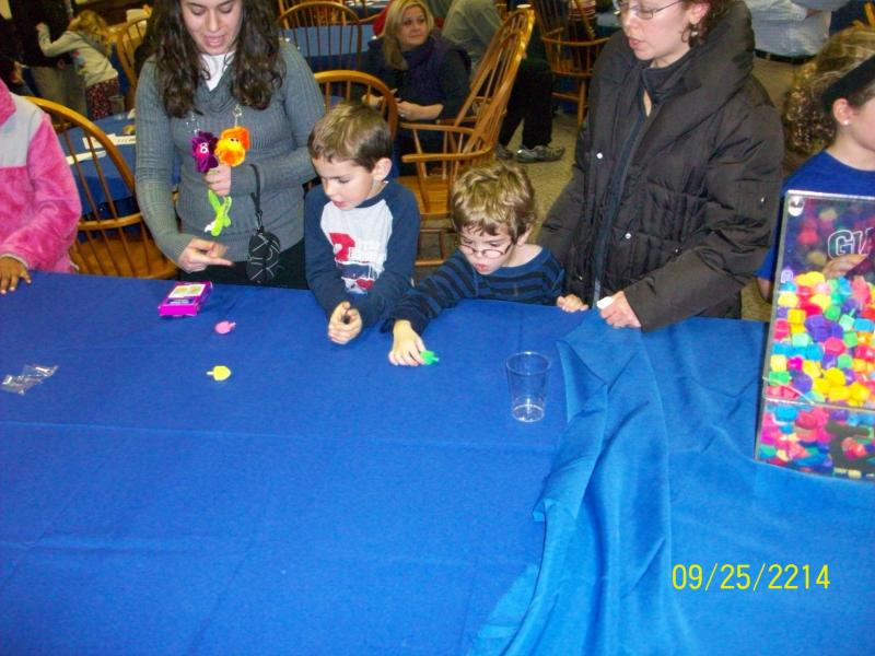 Kids playing games at a table