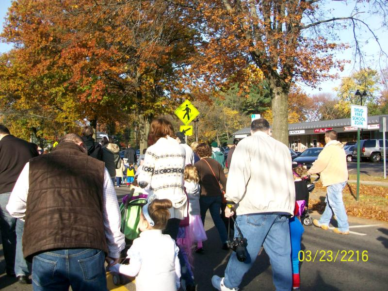 Kids having a fun time at a parade 14